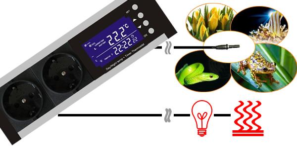thermostat dimmer zeitschaltuhr tag nachtbetrieb tx3. Black Bedroom Furniture Sets. Home Design Ideas